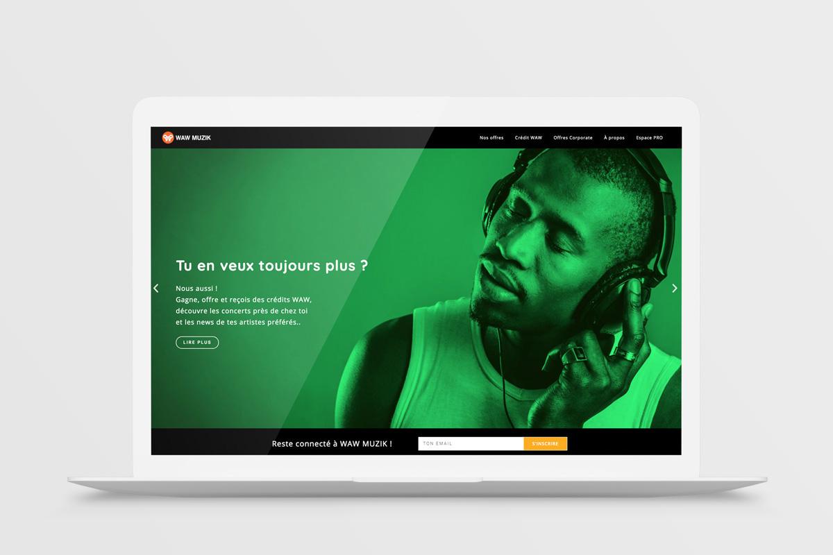 Vierkant WAW Muzik web presentation